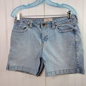 Levi Stretch Light Wash Jean Shorts Size 10